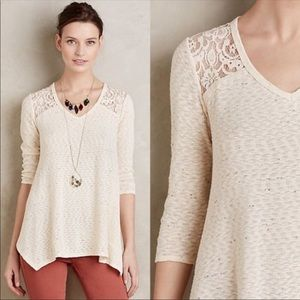 Anthropologie everleigh lavardin lace tunic blouse